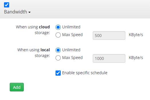 Remote Deploy in Managed Backup Service: Bandwidth