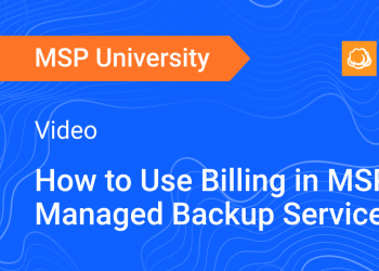 How to Use Billing in MSP360 Managed Backup Service