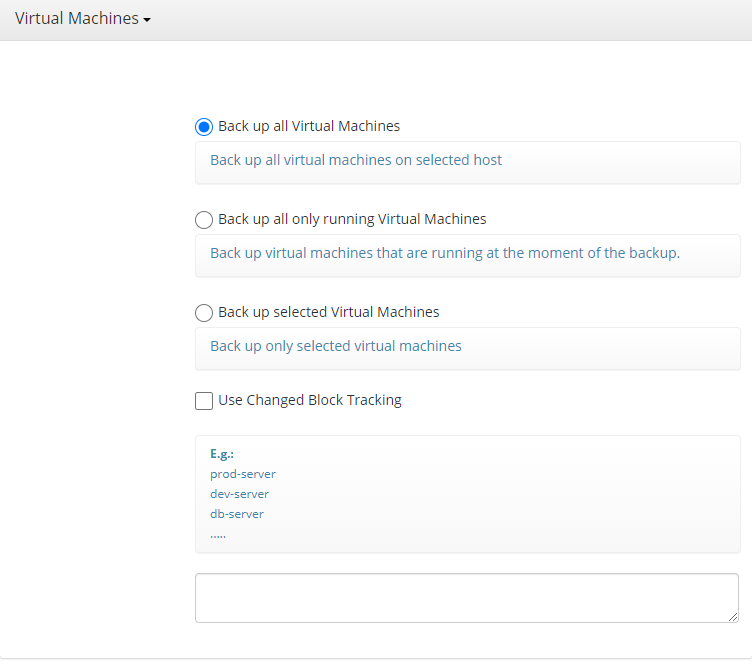 Hyper-V Backup: Choosing Machines