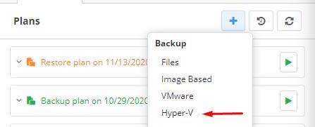 Hyper-V Backup: Choosing Hyper-V