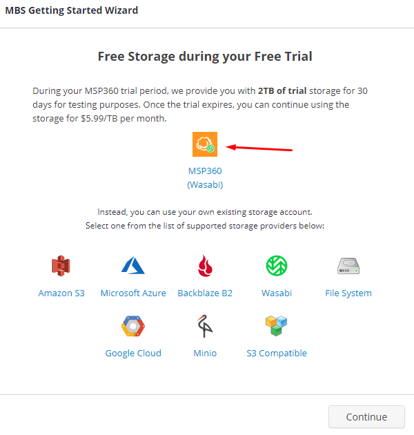 Choosing a Storage for MSP360 Managed Backup Service