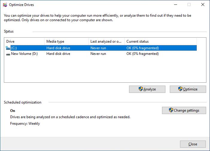Disk Defragmentation Tool