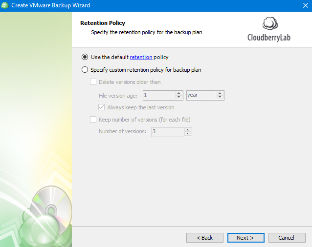 Setting Up Retention Policy in MSP360 Managed Backup Web Agent