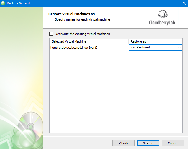 Choosing How to Restore VM in MSP360 Managed Backup Service Agent