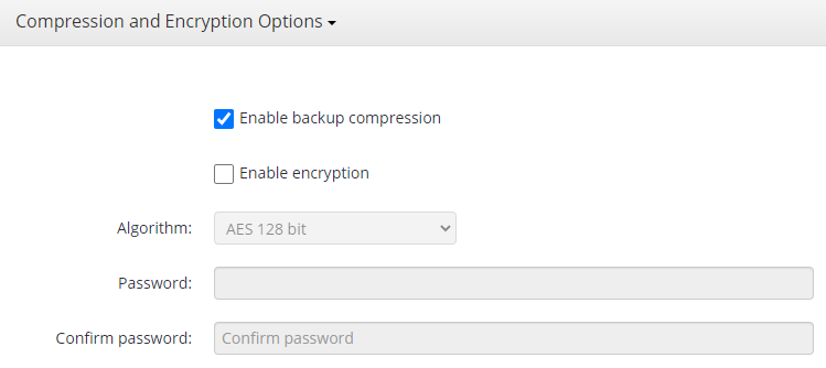 Setting Up Compression/Encryption in MSP360 Managed Backup Web Console