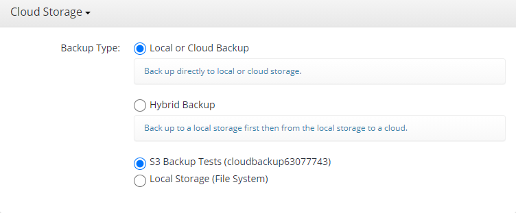 Choosing a Backup Destination in MSP360 Managed Backup Web Console