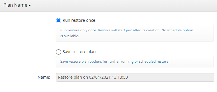 Choosing Whether to Save a Plan in MSP360 Managed Backup Console