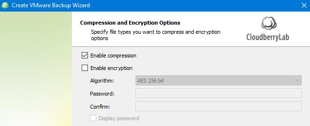 Compression/Encryption in MSP360 Managed Backup Web Agent