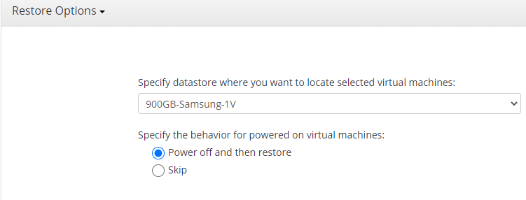 Specifying the Datastore in MSP360 Managed Backup Sevice