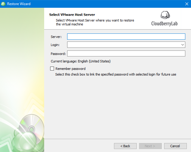Accessing the Server in MSP360 Managed Backup Service Agent