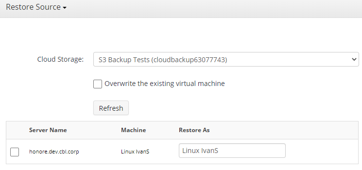 Choosing the Recovery Destination in MSP360 Managed Backup Sevice