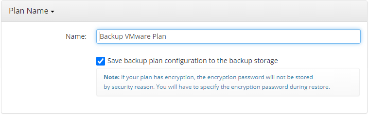 Naming a Plan in MSP360 Managed Backup Web Console