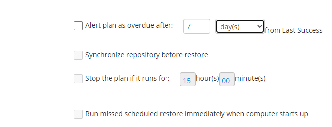 Additional Schedule Options in MSP360 Managed Backup Sevice