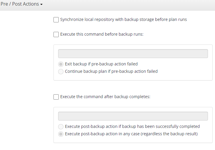 MSP360 Managed Backup: Additional Actions