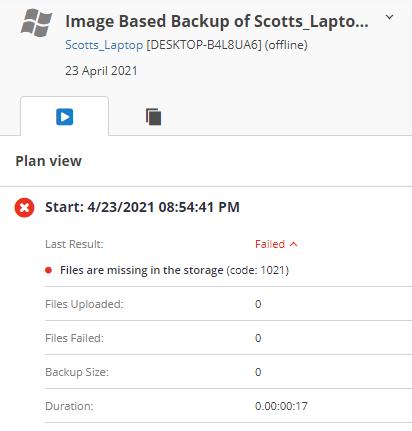 MSP360 Managed Backup: Error Details