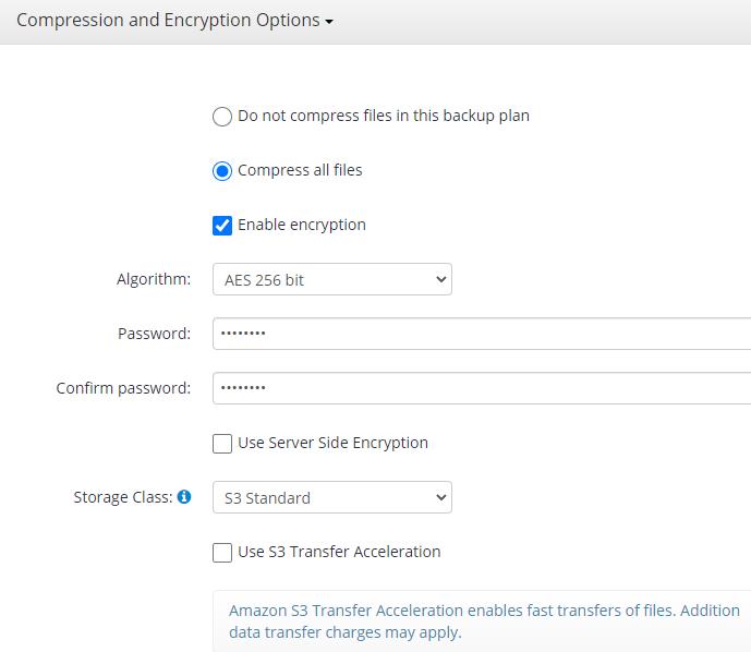 MSP360 Managed Backup: Compression and Encryption