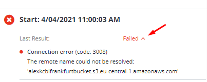 Checking Errors in MSP360 Managed Backup